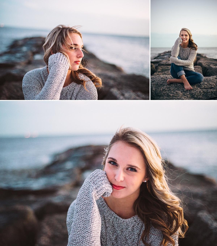 Galveston Beach Senior Portraits
