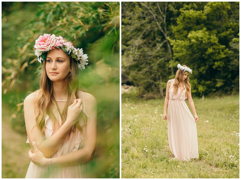 Flower Crown Photographer Senior Pictures In Houston