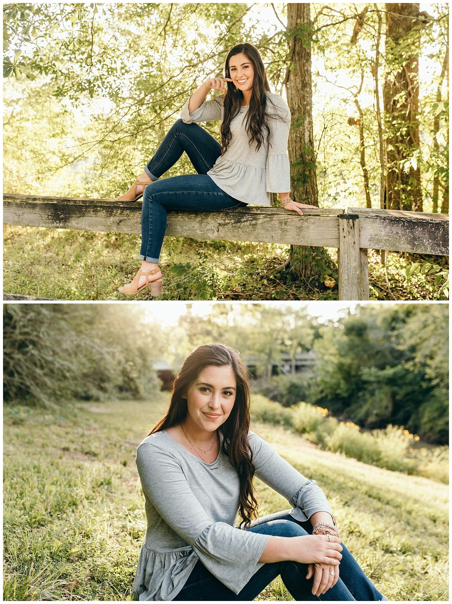 senior girl natural poses