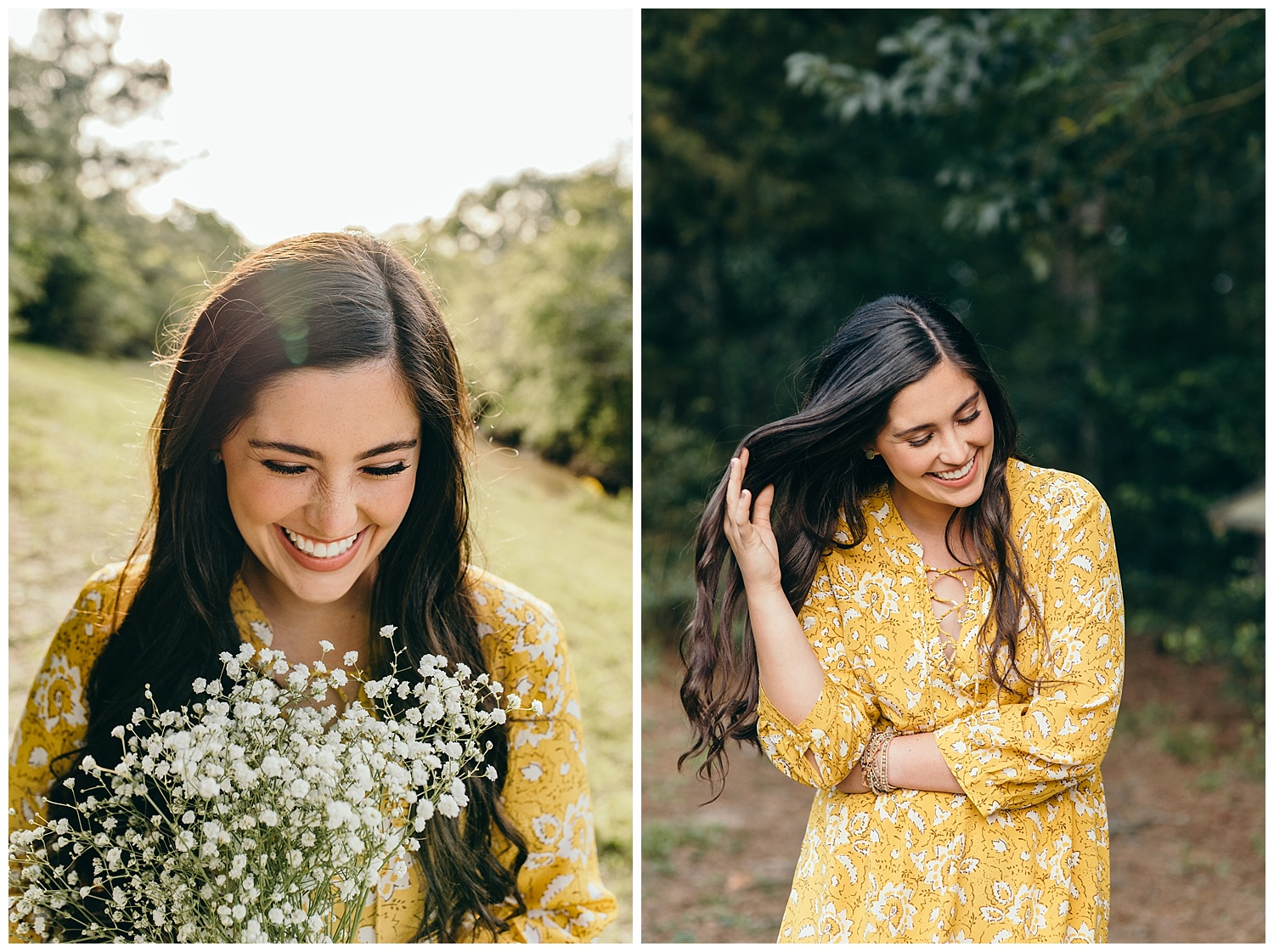 senior girl pictures with bouquet
