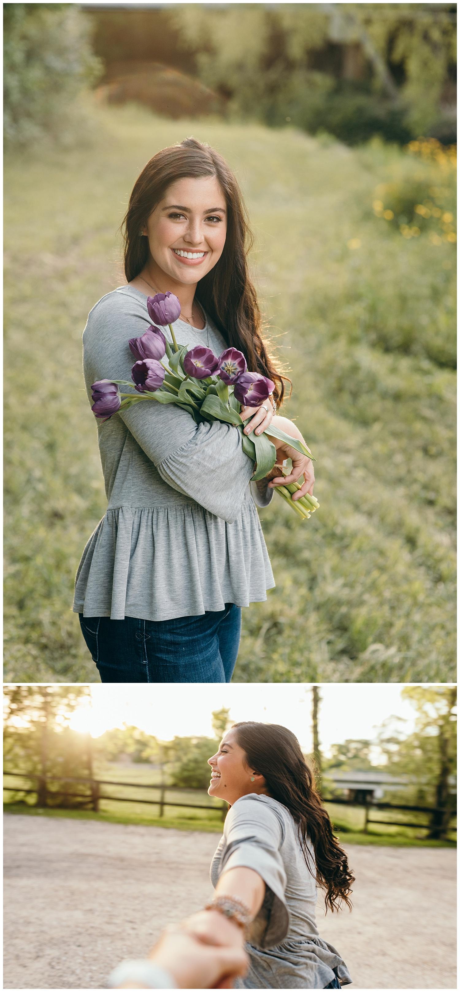 portraits with bouquet