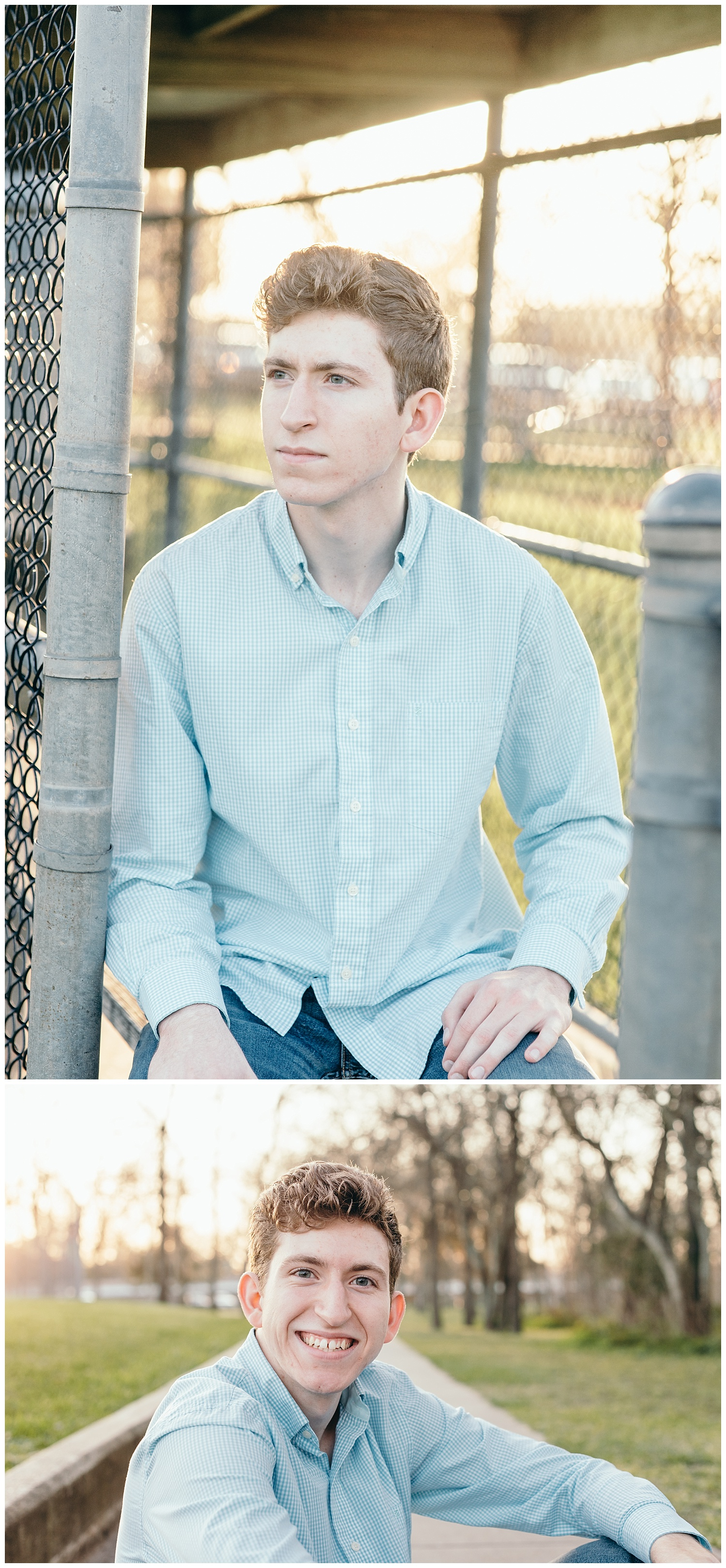 senior boy park portraits