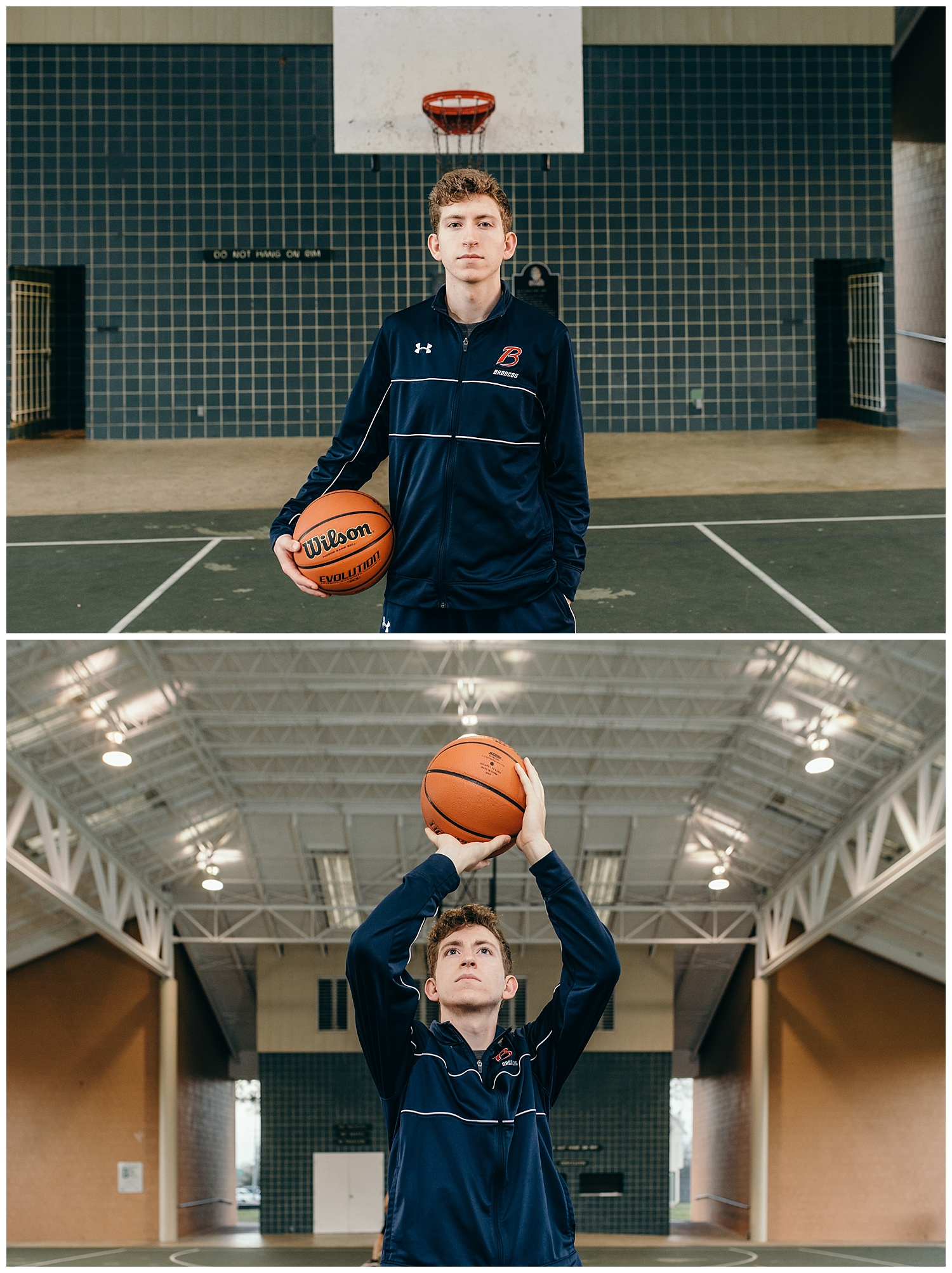 senior boy basketball portraits