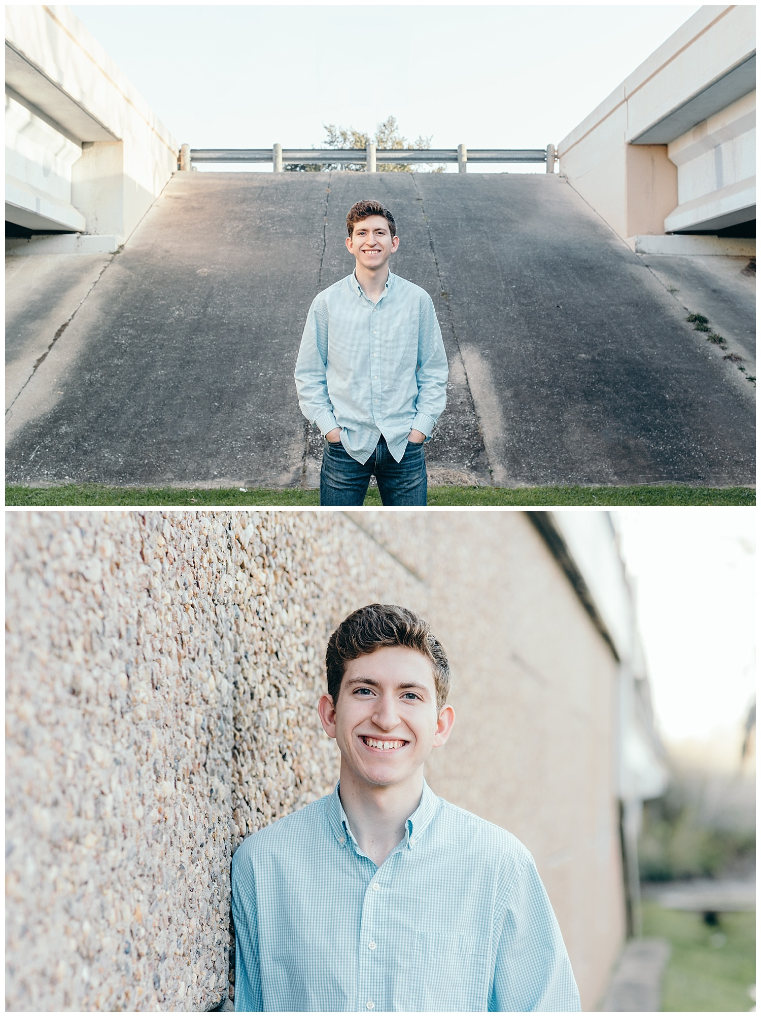 senior boy bridge portraits