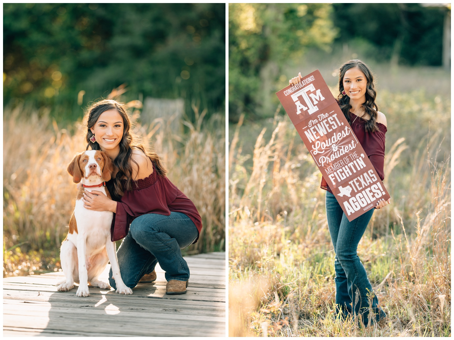 senior girl posing for a future aggie picture